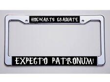 "HARRY POTTER FANS! ""HOGWARTS GRADUATE/EXPECTO PATRONUM!"" LICENSE PLATE FRAME"