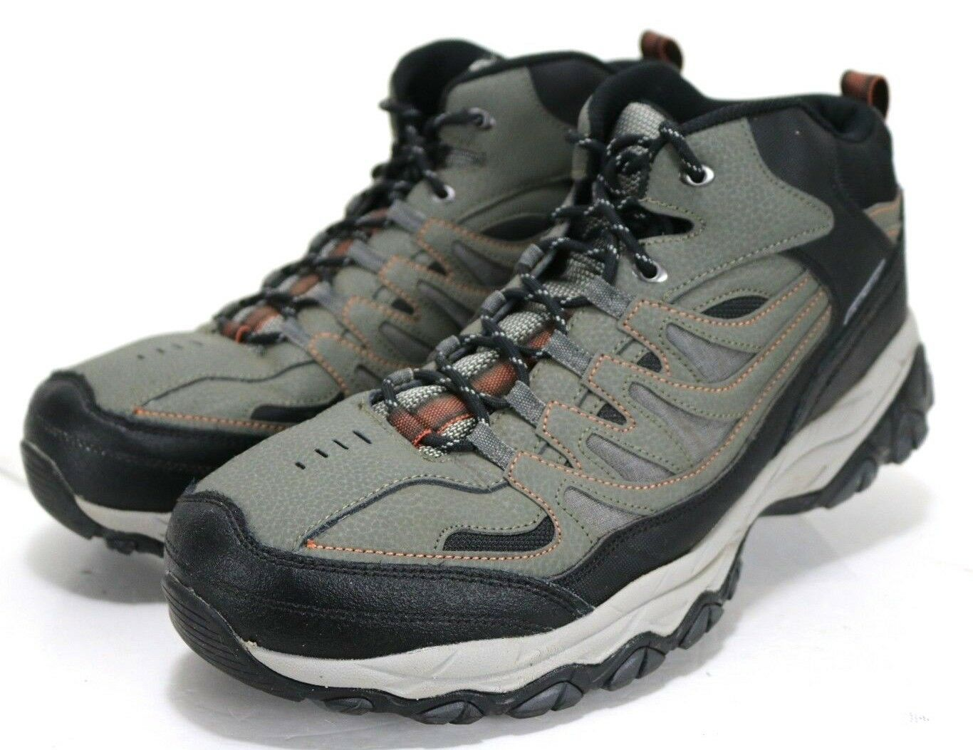 Skechers Afterburn Mid Top  90 Men's Hiking Boots Size 14 Olive Green Black