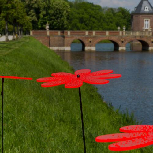 FARBMIX Gartenstecker Gänseblüm 3 Stück SUNPLAY Sonnenfänger Ø20cm Suncatcher