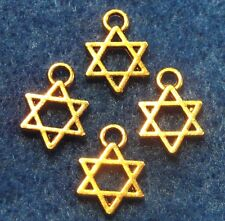 100Pcs. WHOLESALE Tibetan Antique Gold STAR Charms Pendants Earring Drops Q0162