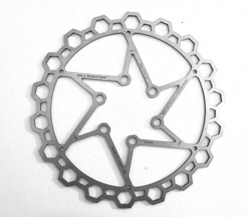 Alligator SLTH Silver Disc Brake Rotor 160mm ULTRALIGHT 70g! + bolts