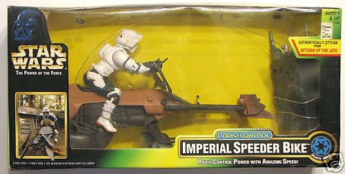 Star Wars POTF RADIO CONTROL IMPERIAL SPEEDER BIKE MIB