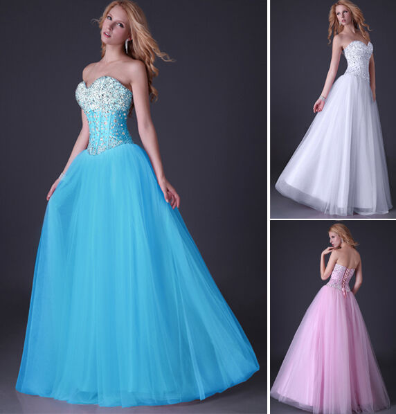 2015 Sequins Beading Corset Style Evening/Formal/Ball gown/Party/Prom Dress Long