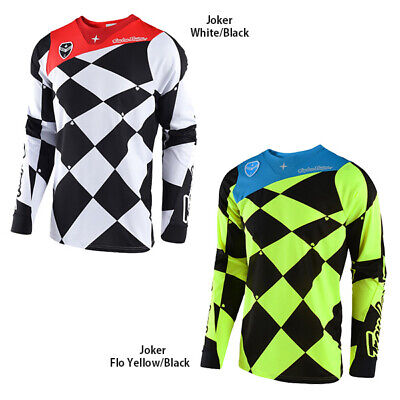 Flo Yellow//Black Troy Lee Designs SE Joker Mens Off-Road Motorcycle Jersey