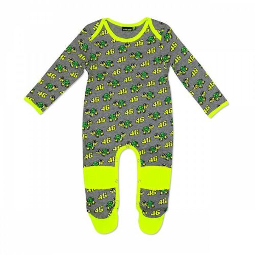 VRKOA 308903 VR46 Official Valentino Rossi Grey Turtles Baby Overall Suit
