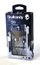Skullcandy 50/50 Earphones Black/Chrome iPhone iPad Tablet Mic Remote