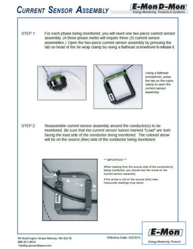 Emon Dmon Meter 25A Split Core Sensor set of 3 E10005 E10013