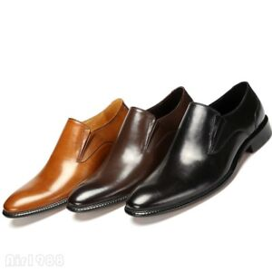 Formal Dress Shoes Men Pointy Toe Genuine Leather Oxfords Shoes