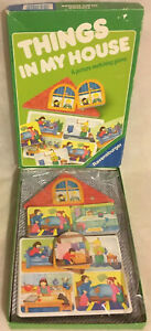 Things-In-My-House-Board-Game-A-Picture-Matching-Game-1993-Ravensburger-Complete