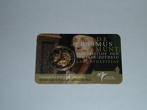 2-Euro-Gedenkmunze-Niederlande-2011-034-500-Jahre-Erasmus-034-in-Coincard-CC-KNM-RAR