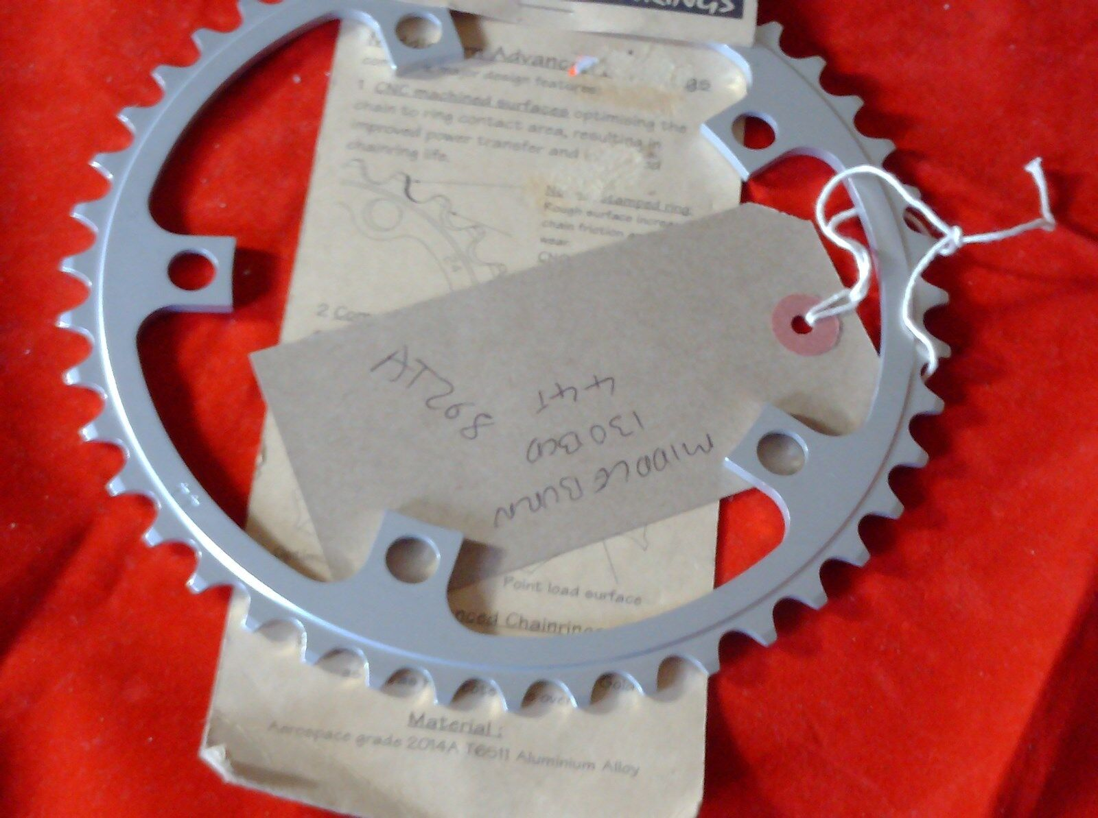 NOS MIDDLEBURN  44 TOOTH 130BCD  CHAINRING