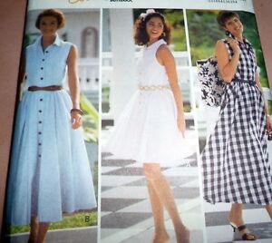 NEW DRESS BUTTERICK Sewing Pattern 12-14-16 UNCUT