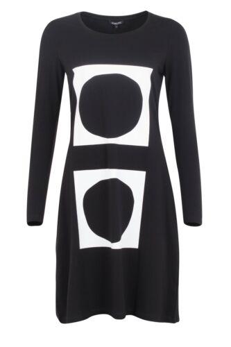 Design Hebbeding Black Jersey Dress Square BNWT Gr 1-2-3 New Collection