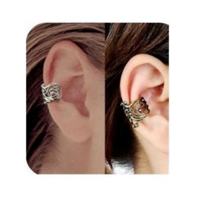 Ear Cuff Wrap Earrings No Piercing Clip On Ear Clips Silver Or Gold Tone