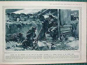 1915 Première Guerre Mondiale G.mondiale 1 Imprimé ~ Observation At A Trench Yyzrvqj7-08000447-116810642