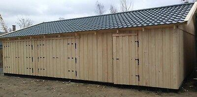 Garage Holzgarage Holzhalle 10m X 7m Mit Satteldach Fertiggarage 2