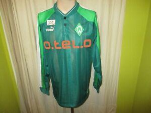 Werder-Bremen-Original-Puma-Langarm-Heim-Trikot-1998-99-034-o-tel-o-034-Gr-L