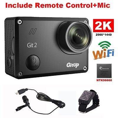 Gitup Git2 Novatek 96660 1080P WiFi 2K Sports Helemet Camera+Mic+Remote Control
