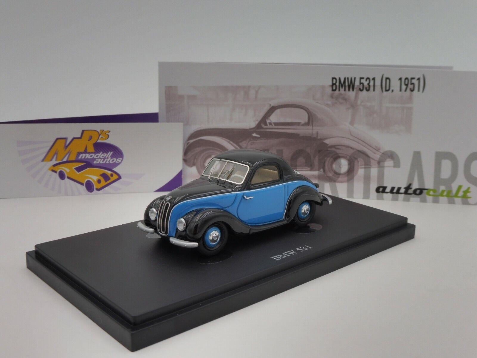 Autocult 03016   BMW 531 2 posti anno di costruzione 1951 in  azul-azul scuro  1 43 NUOVO