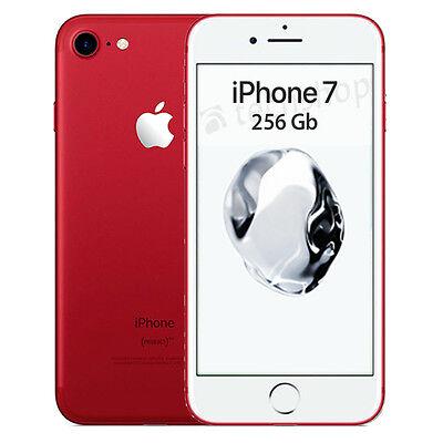 """Apple • iPhone 7 • 256Gb Red • GARANZIA 2 ANNI • Rosso Bianco 4.7"""" 12Mp 4G NUOVO"""