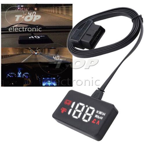Car HUD Head Up Display A100 OBD2 II EUOBD Overspeed Warning System Projector