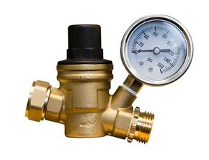brass adjustable water pressure regulator for rv ebay. Black Bedroom Furniture Sets. Home Design Ideas