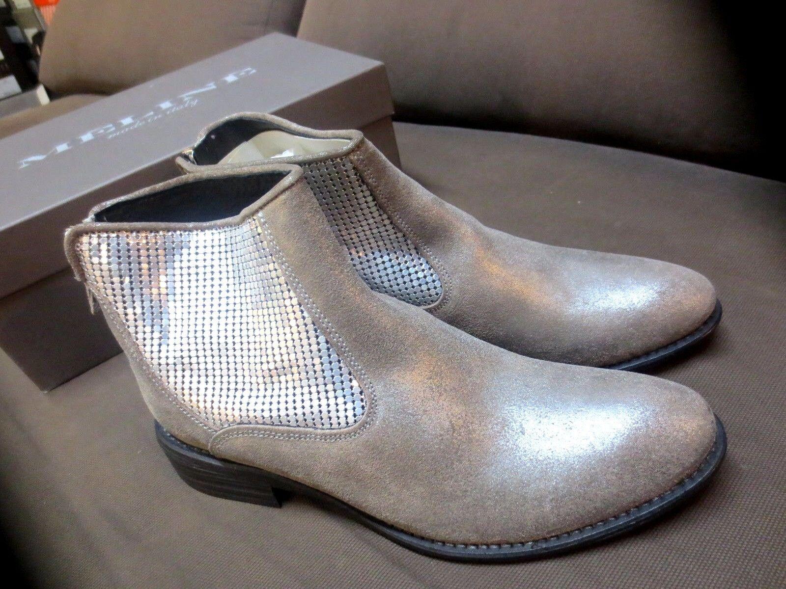 MELINE botas botas botas pelle platino nuove valore 149E Numeri 35,36 1f4af1