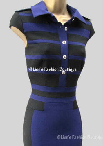 Nouveau Bnwt 10 Noir Bleu Robe 160 Millen £ Chemise Karen Uk 12 Dp209 SxUnrwPSq
