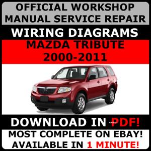 Official Workshop Repair Manual For Mazda Tribute 2000 2011 Ebay