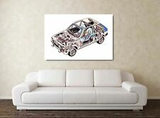 MK1 Ford Fiesta XR2 Rally Car - 30x20 Inch Canvas Art - Framed Picture Print