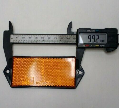 2 x côté AMBER Réflecteur Vis Remorque Voiture Tracteur Rectangle Maypole MP8858