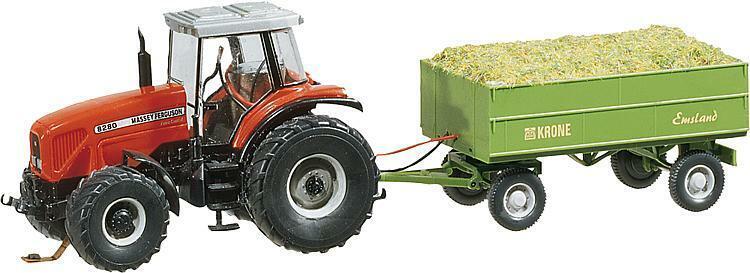 Faller h0 161536 MF tractor con remolque (Wiking) Artículo nuevo