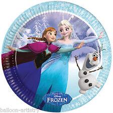 8 Disney's FROZEN Ice Skating Children's Party Disposable 23cm Paper Plates
