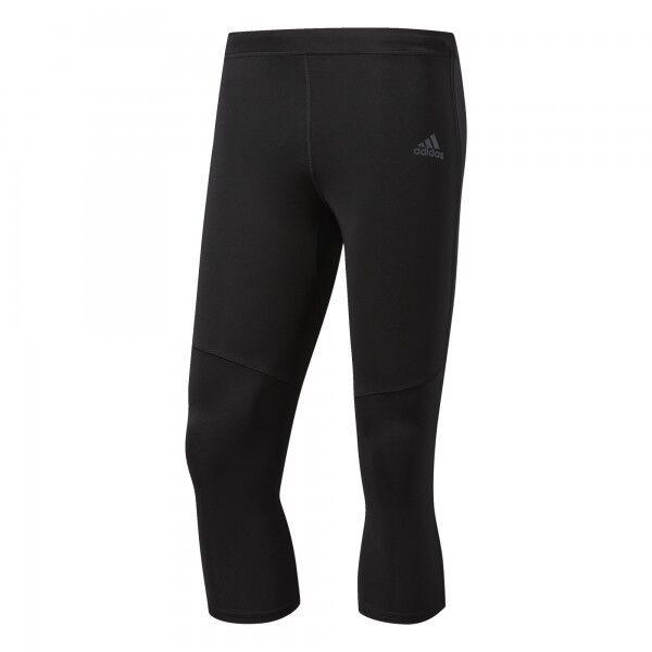 Uomo ADIDAS RESPONSE 34 Tight Esecuzione Pantaloni Nero Nuovo