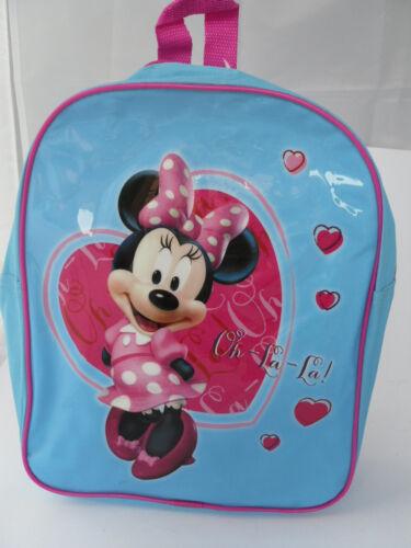 Kindergartentasche Rucksack Disney Minnie Neu Hellblau mit Motiv