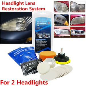 Universal Car Headlight Headlamp Cleaning Restoration Restorer