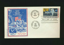 #C76  MOON LANDING 1969 Dual Cancelled Butler Cachet SPACE First Day Cover Unadd