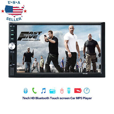 """7010B 7/"""" 2Din HD Touch Screen Android IOS Car Stereo MP5 Player FM Radio USB//TF"""