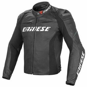 DAINESE-Racing-D1-Pelle-LEATHER-JACKET-MOTORBIKE-MOTORCYCLE-BLACK