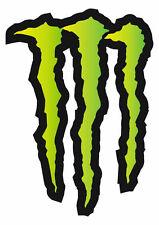 "Large HUGE Monster Energy Drinks Logo Stickers Decals 11.69"" x 8.27"" ATV/Truck"