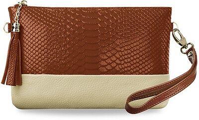kleine lackierte Clutch Damen -Tasche Handtasche Kettenriemen Schultertasche !