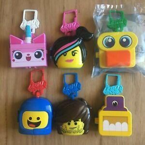 Lego-Movie-2-McDonalds-Happy-Meal-2019-Toys-Set-of-6-Benny-Rex-Duplo-UniKitty