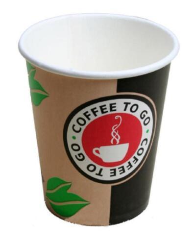 750 Coffee to Go Becher für 300ml 12oz Pappbecher Kaffeebecher