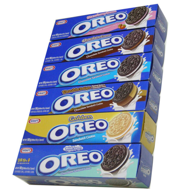OREO O's Chocolate Sandwich Cookies Full Set 100 g x 6 Boxes