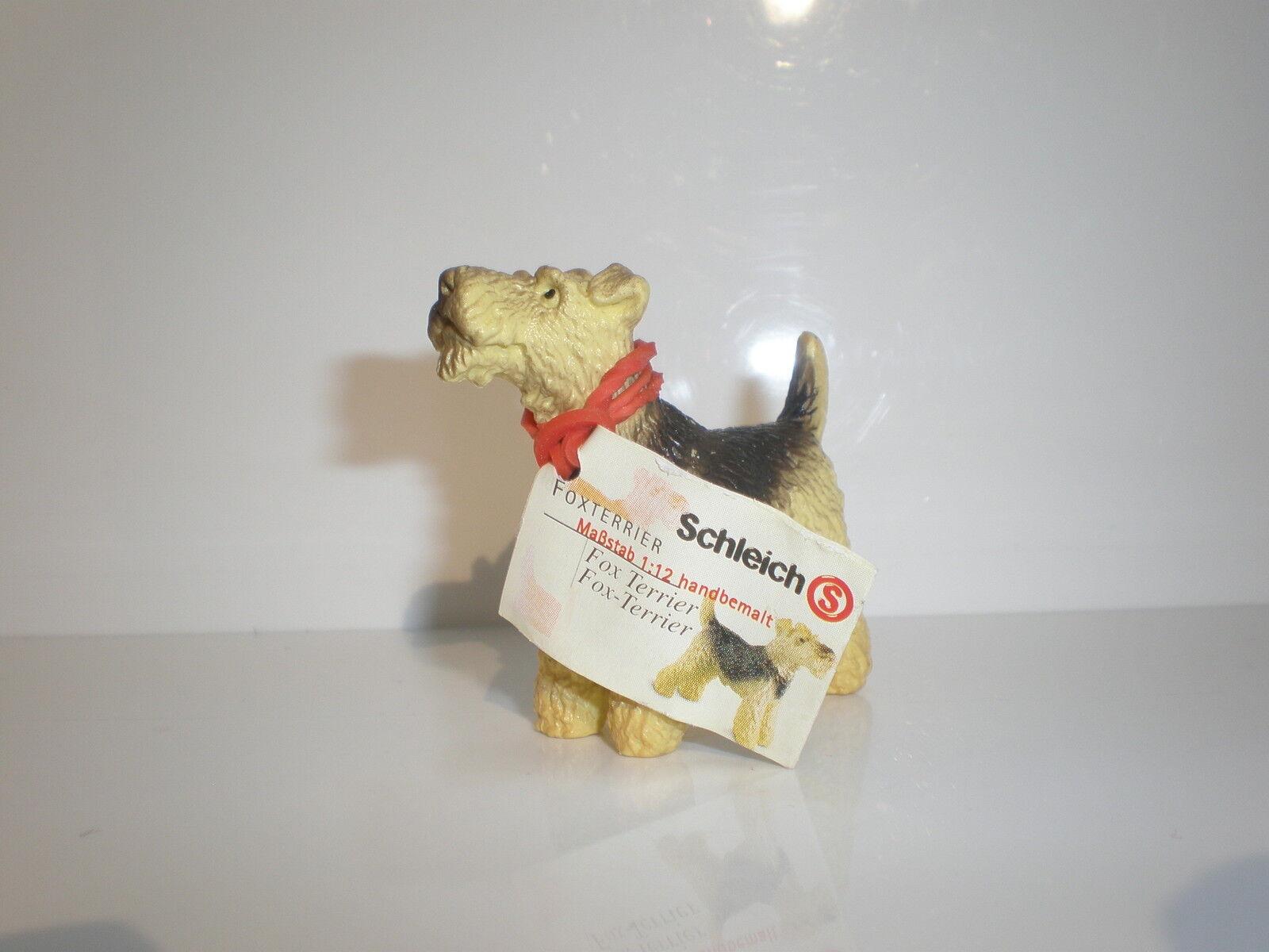 16310  Schleich Dog  Fox Terrier   with booklet  ref 9P3