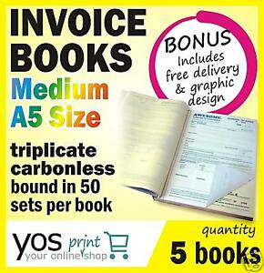 5-x-Printed-QUOTE-TAX-INVOICE-Books-FREE-POST