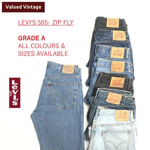 Vintage-Levis-Levi-505-Herren-Klasse-A-Jeans-Zip-Fly-501-Denim-w30-w32-w34-w36-w38