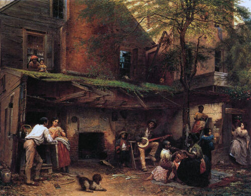 Negro Life in the South  by Eastman Johnson Giclee Canvas Print Repro