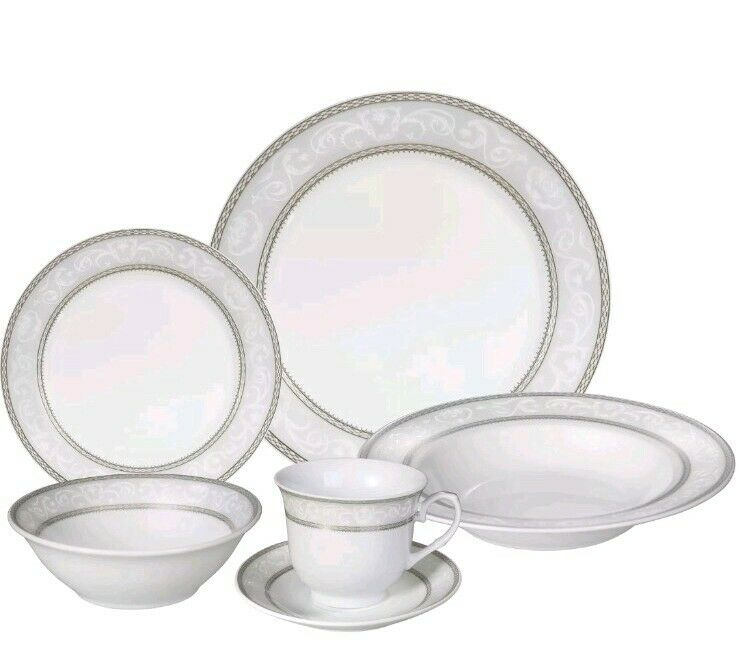 LORREN Accueil Tendances Sirena 24 Pièce Dinnerware Set, service pour 4