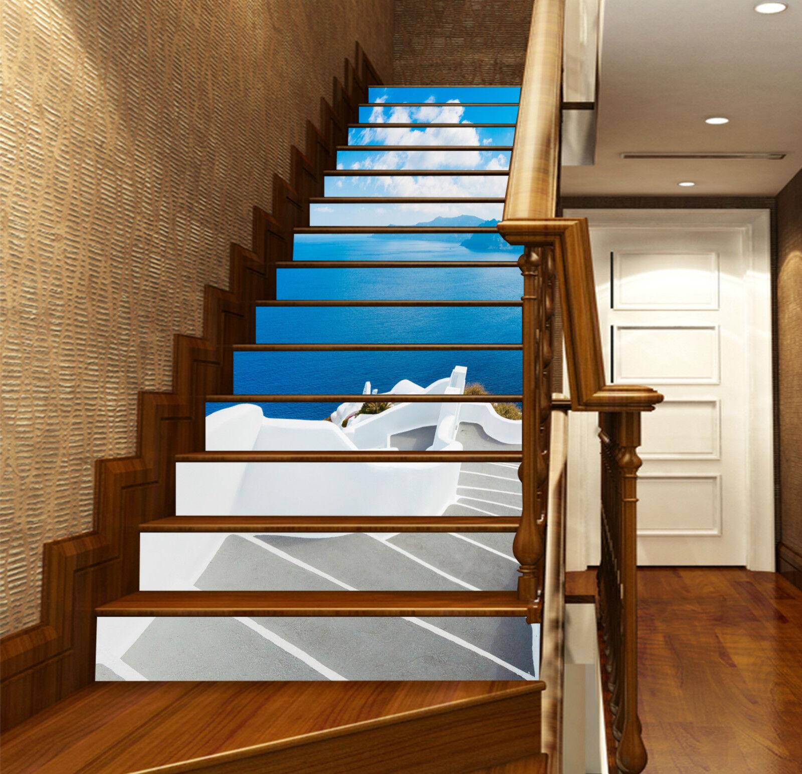 3D Meer Treppe 226 Stair Risers Dekoration Fototapete Vinyl Aufkleber Tapete DE